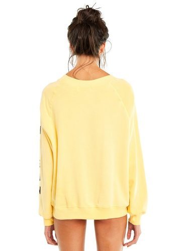 WILDFOX UNDER THE SUN SOMMERS SWEATER - PIGMENT YELLOW MANGO