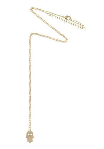 ESTELLA BARTLETT GOLD HAMSA HAND CHARM NECKLACE