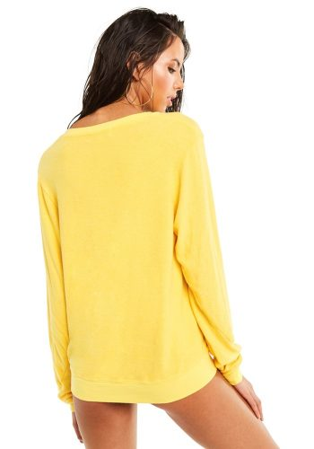 WILDFOX FIESTA BAGGY BEACH V NECK - YELLOW MANGO