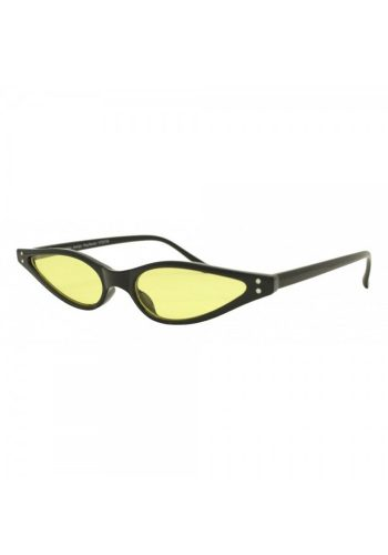 KOURTNEY - MINI CAT EYE SUNGLASSES - BLACK / YELLOW