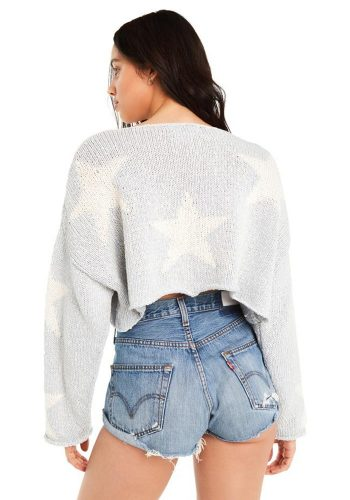 WILDFOX STAR CROSSED STAR SWEATER - SADDLE BLUE