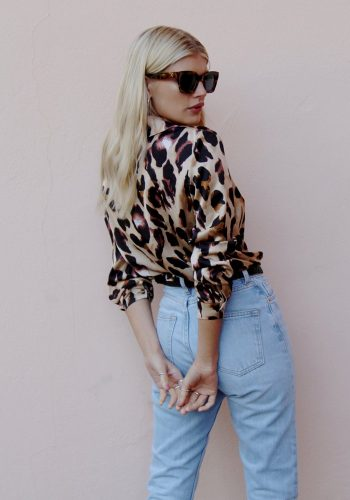 NEVER FULLY DRESSED CHESTER SHIRT - LEOPARD