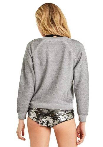 WILDFOX OR NAH JUNIOR SWEATER - HEATHER