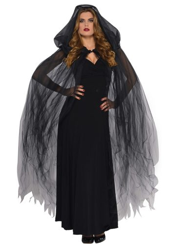 CAPE - BLACK HOODED HALLOWEEN