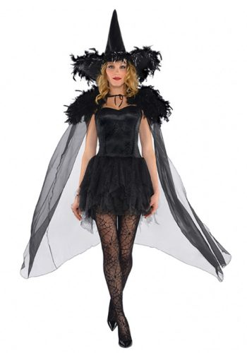 BLACK FEATHER CAPE
