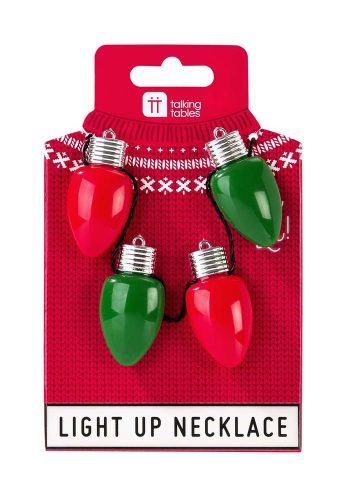 CHRISTMAS LIGHT BULB NECKLACE