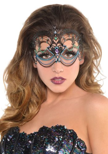 METAL FILIGREE MASK - MULTI