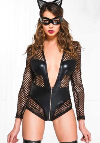 LONG SLEEVE FISHNET BODY