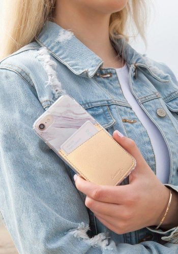 CASERY - PHONE POCKET - BEIGE LEATHER