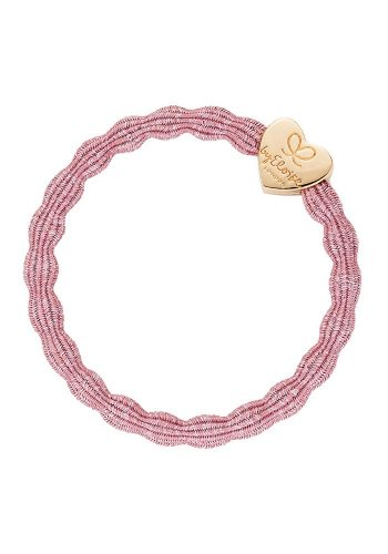 BYELOISE METALLIC GOLD HEART - ROSE PINK