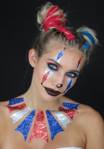 GLITTER - CLOWN BODY GLITTER STICKERS | HALLOWEEN MAKEUP LOOK