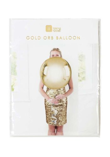 METALLIC ORB BALLOON - GOLD