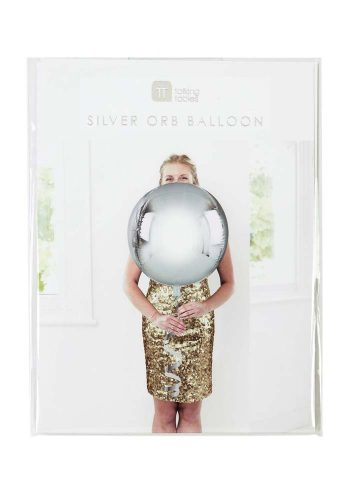 METALLIC ORB BALLOON – SILVER
