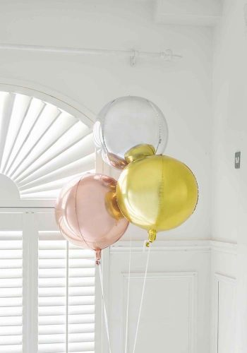 METALLIC ORB BALLOON - ROSE GOLD