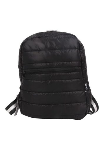 PUNCH - QUILTED PUFFER BACKPACK - BLACK