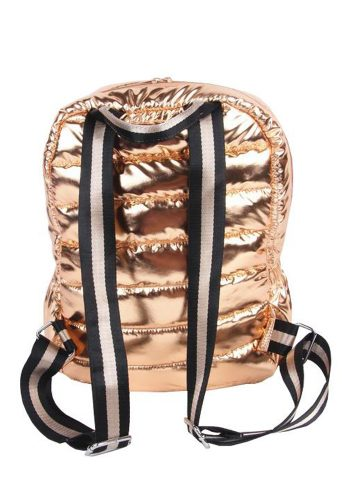 PUNCH - QUILTED PUFFER BACK PACK - ROSE GOLD