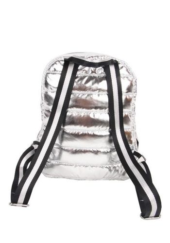 PUNCH - QUILTED PUFFER BACK PACK - SILVER