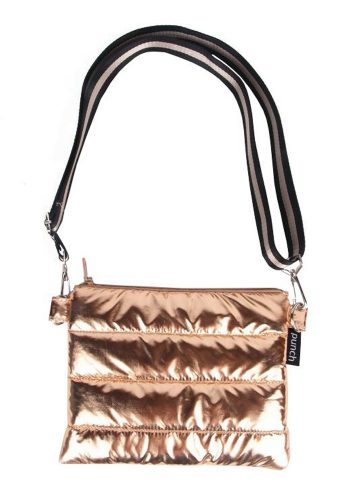 PUNCH - QUILTED PUFFER CROSS BODY BAG - ROSE GOLD