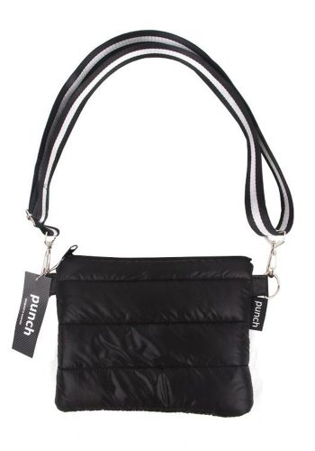PUNCH - QUILTED PUFFER CROSS BODY BAG - BLACK