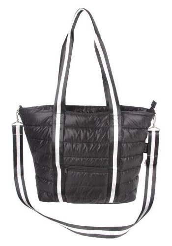 PUNCH - QUILTED PUFFER TOTE - BLACK