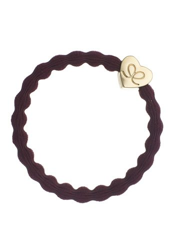 BYELOISE GOLD HEART - PLUM