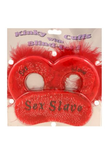SEX SLAVE EYE MASK AND HANDCUFFS
