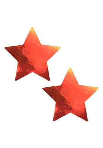CHROME STAR PASTIES - ORANGE