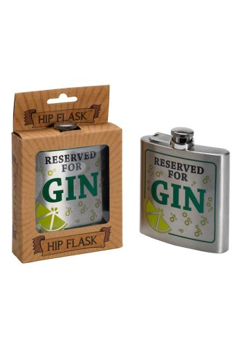 RESERVED FOR GIN - HIP FLASK