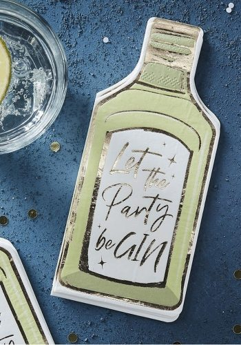 LET THE PARTY BE GIN PAPER NAPKINS