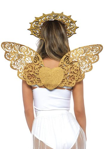 LEG AVENUE DIE CUT GOLDEN ANGEL SET