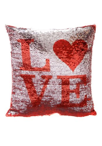 LOVE SEQUIN CUSHION