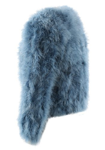 OSTRICH FEATHER JACKET - BLUE