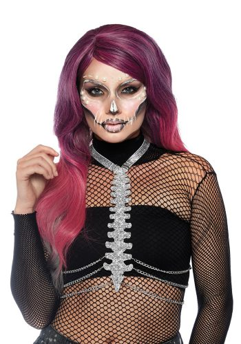 SKELETON BODY HALLOWEEN HARNESS - SILVER