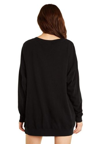 WILDFOX SO HIGH ROADTRIP SWEATER - CLEAN BLACK