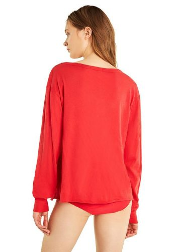 WILDFOX WONDER STELLAR LONG SLEEVE TEE - SCARLETT