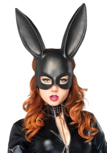 LEG AVENUE BLACK MASQUERADE RABBIT MASK