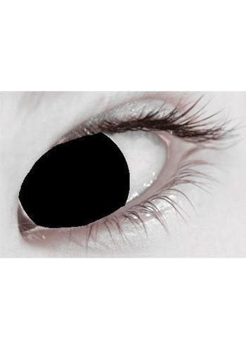 MESMEREYES ONE DAY CONTACT LENSES - BLACK BLIND