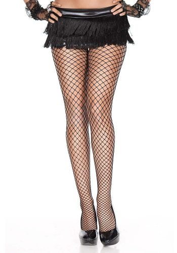 MINI DIAMOND NET TIGHTS - BLACK
