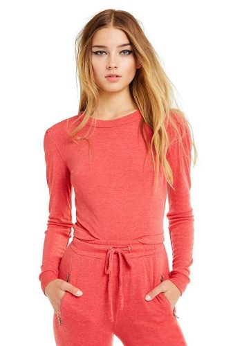 WILDFOX MIA LONG SLEEVE TEE - SCARLET