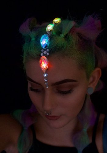 FESTIVAL FACES GROUP X GEORGIE - LIGHT UP HAIR JEWELS