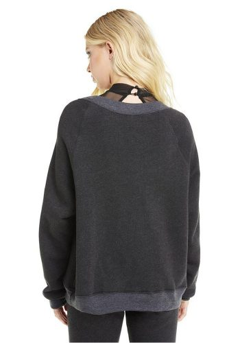 WILDFOX INSIDE OUT KIM'S SWEATER - CLEAN BLACK