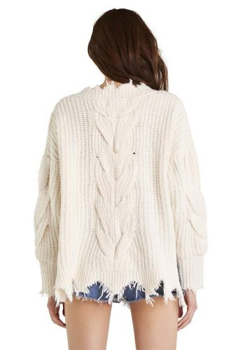 WILDFOX LOGAN SWEATER - VINTAGE LACE