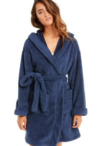 WILDFOX IN YOUR DREAMS HOODED ROBE - OXFORD