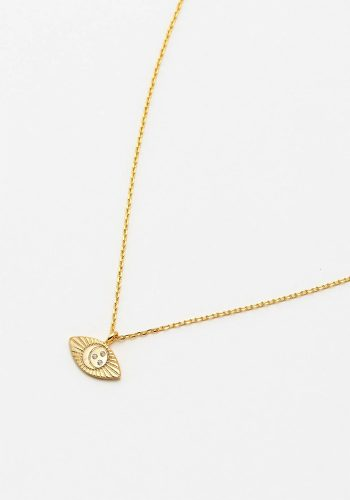 ESTELLA BARTLETT AZTEC EYE NECKLACE - GOLD PLATED