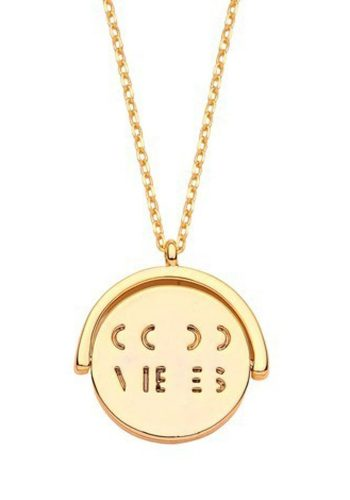 ESTELLA BARTLETT GOOD VIBES NECKLACE - GOLD PLATED