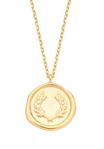 ESTELLA BARTLETT WAX SEAL NECKLACE - GOLD PLATED