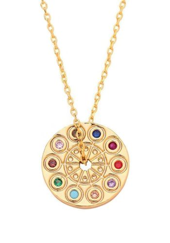 ESTELLA BARTLETT KALEIDOSCOPE NECKLACE - GOLD PLATED