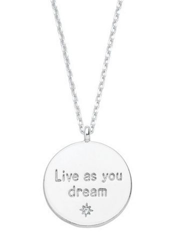 ESTELLA BARTLETT LIVE AS YOU DREAM NECKLACE - SILVER PLATED