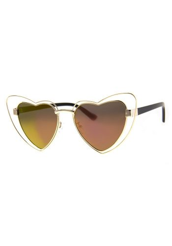 A J MORGAN TRUE HEART SUNGLASSES - GOLD / PINK