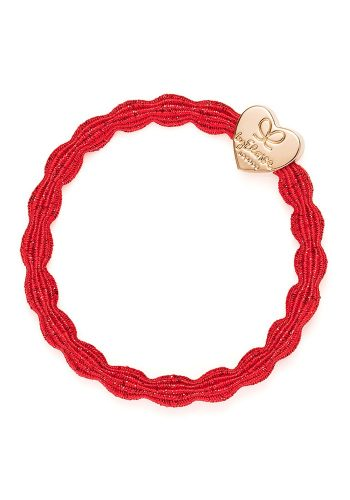 BYELOISE METALLIC GOLD HEART - RED